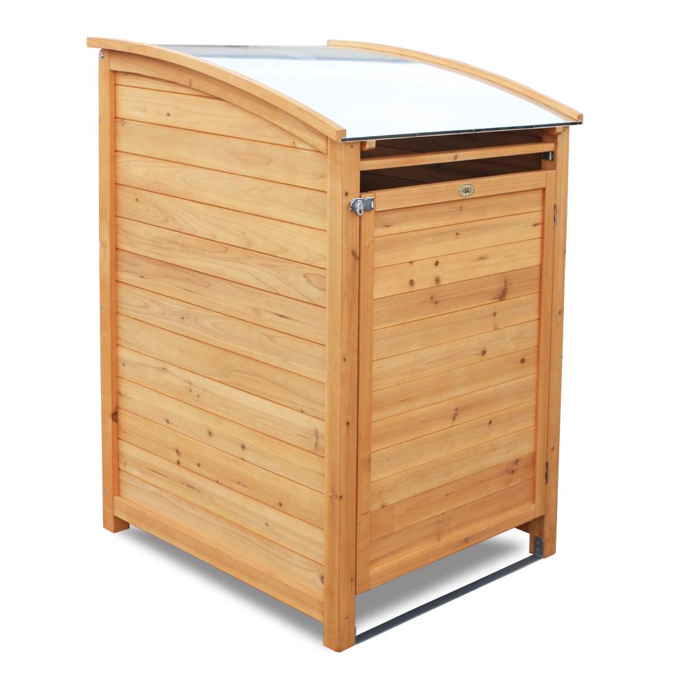 "Mülltonnenbox ""PLUS"", 120 Liter, natur"