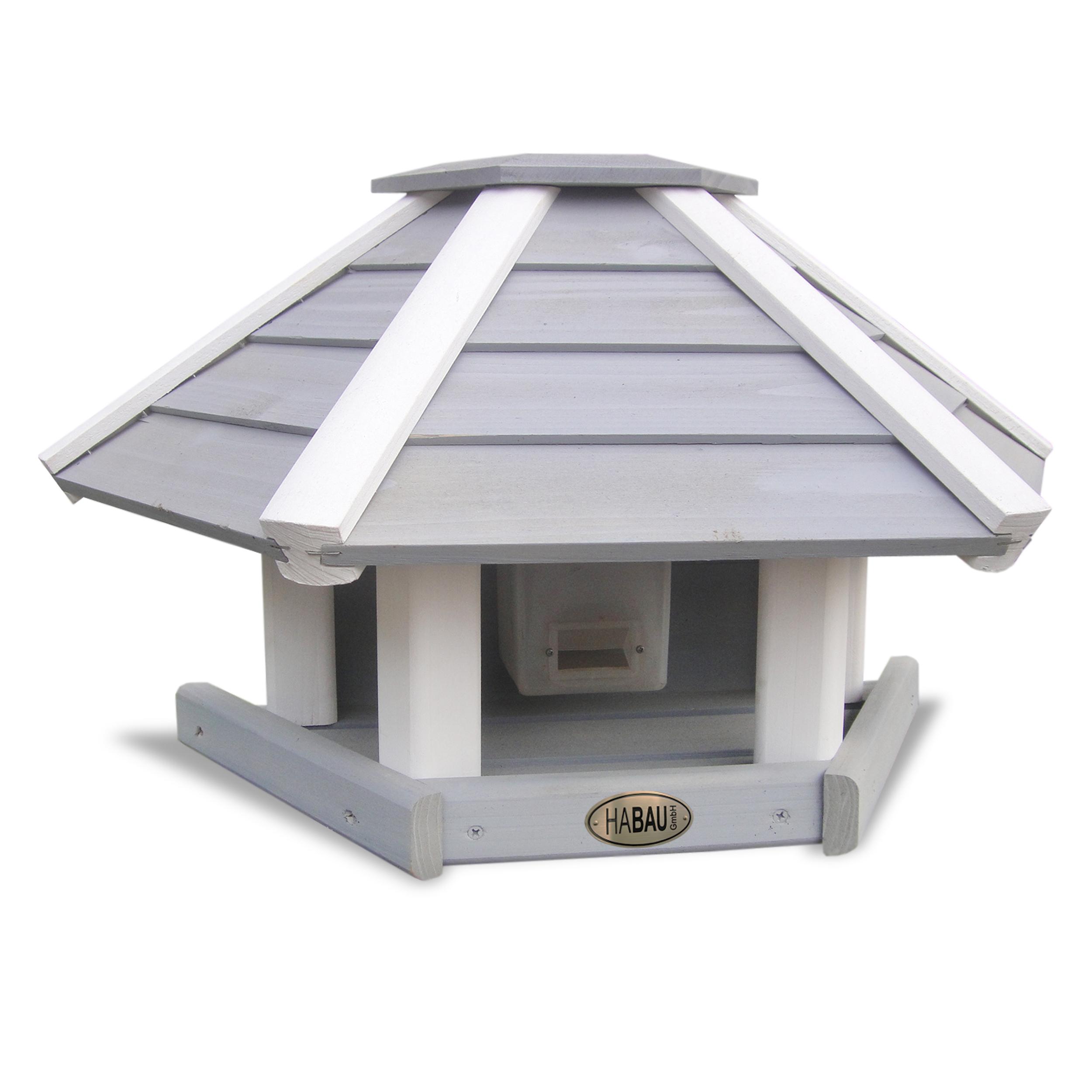 HABAU Vogelhaus Wandhänger - grau-weiß - 2517
