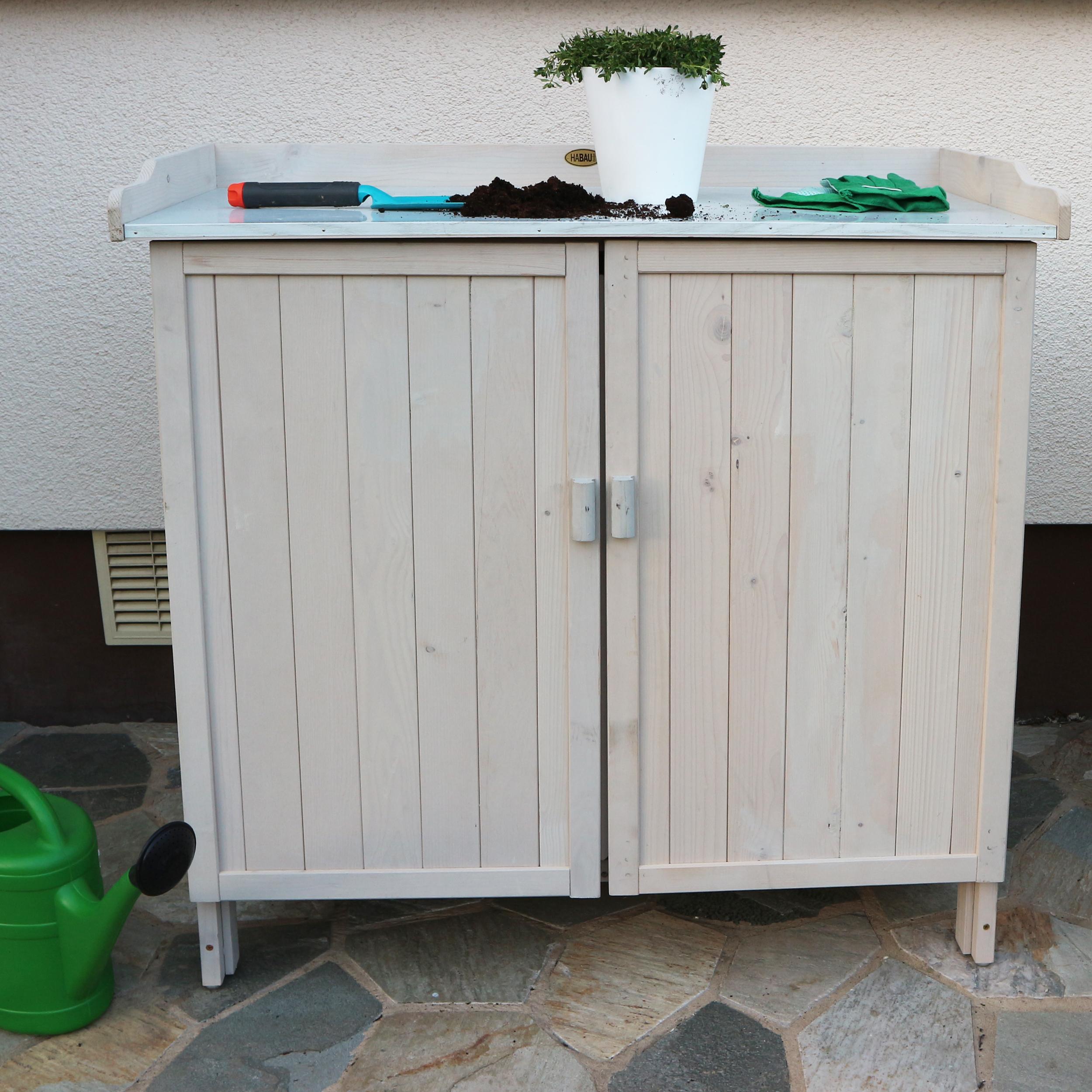 HABAU Gartentisch Lino mit Unterschrank - Ambiente - 3095