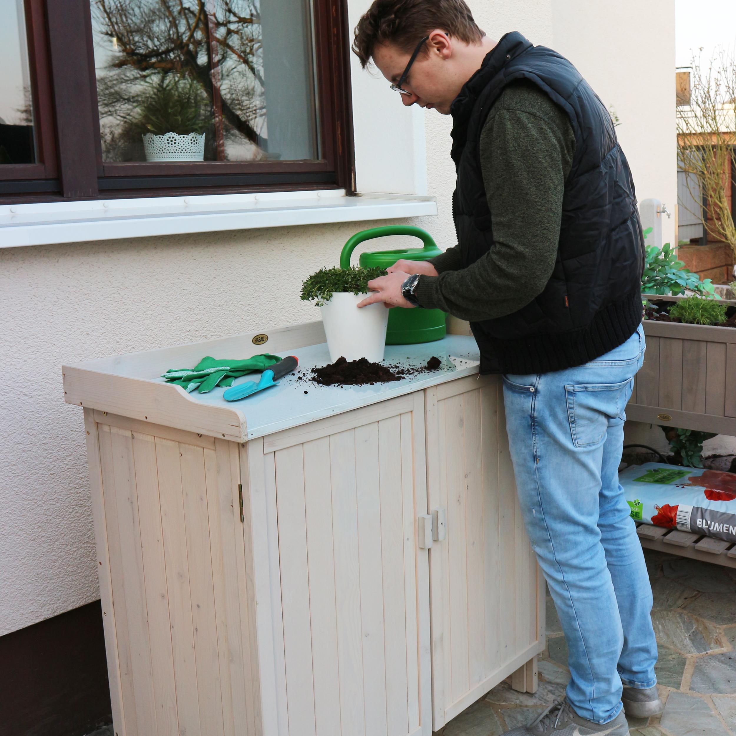 HABAU Gartentisch Lino mit Unterschrank - Anwendungsbeispiel - 3095