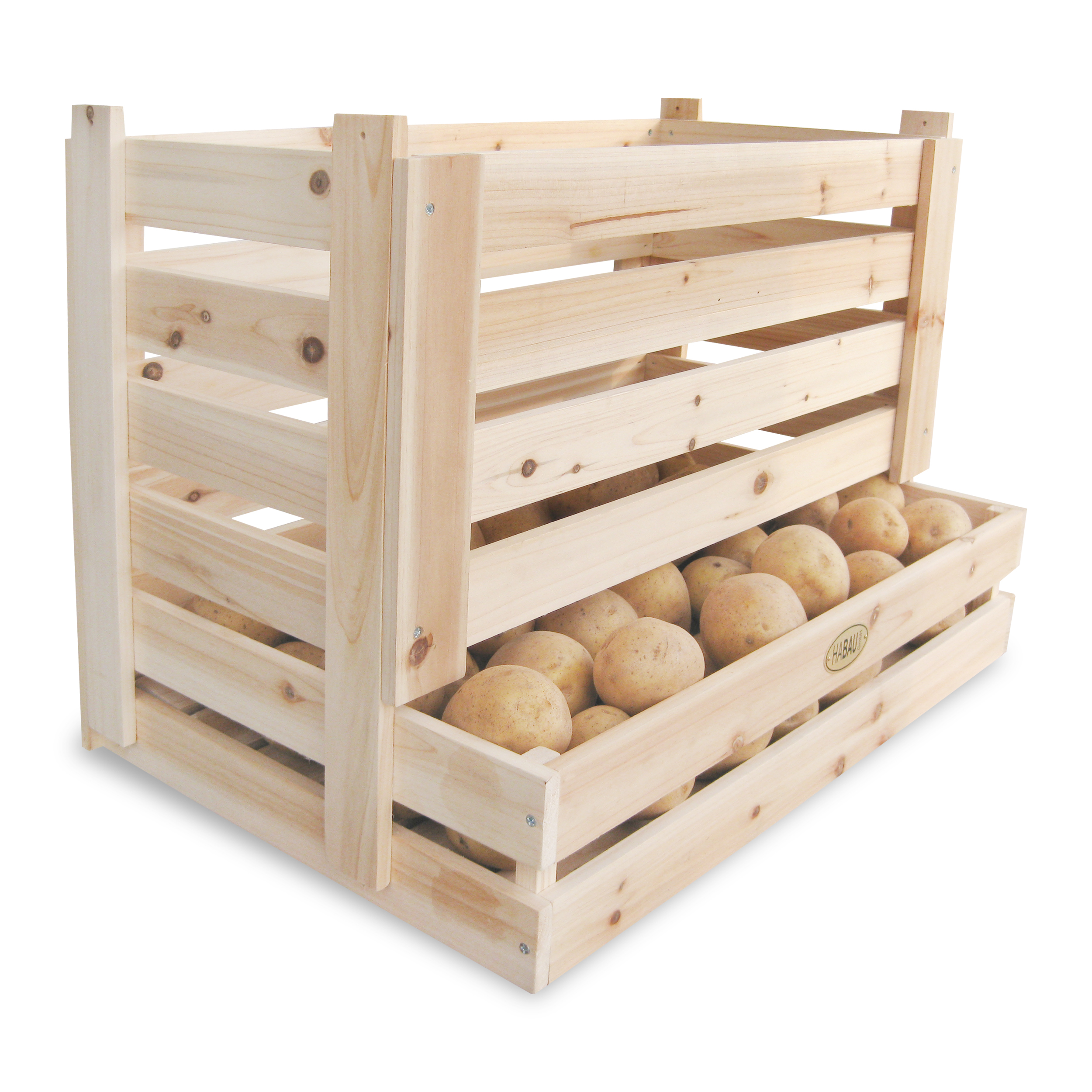 HABAU Kartoffelkiste, stapelbar, 58 x 38 x 42 cm