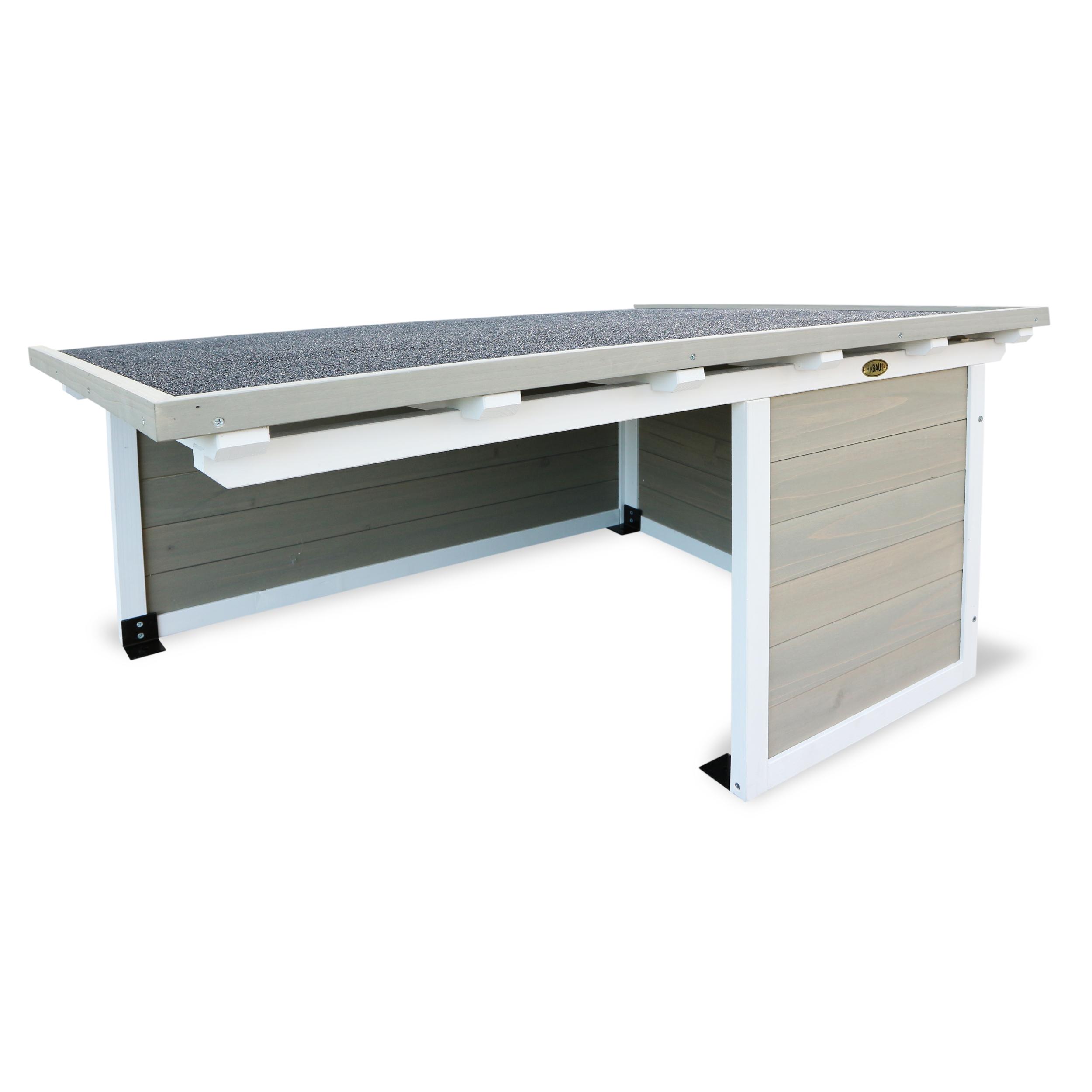HABAU Garage für Mähroboter - grau-weiß