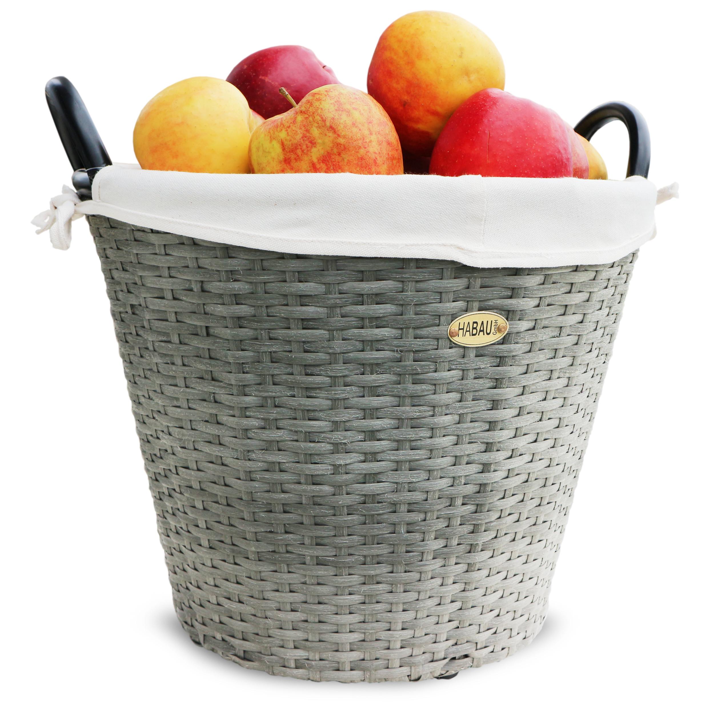 HABAU Obstkorb aus Polyethylen, grau, 54 cm - 2724