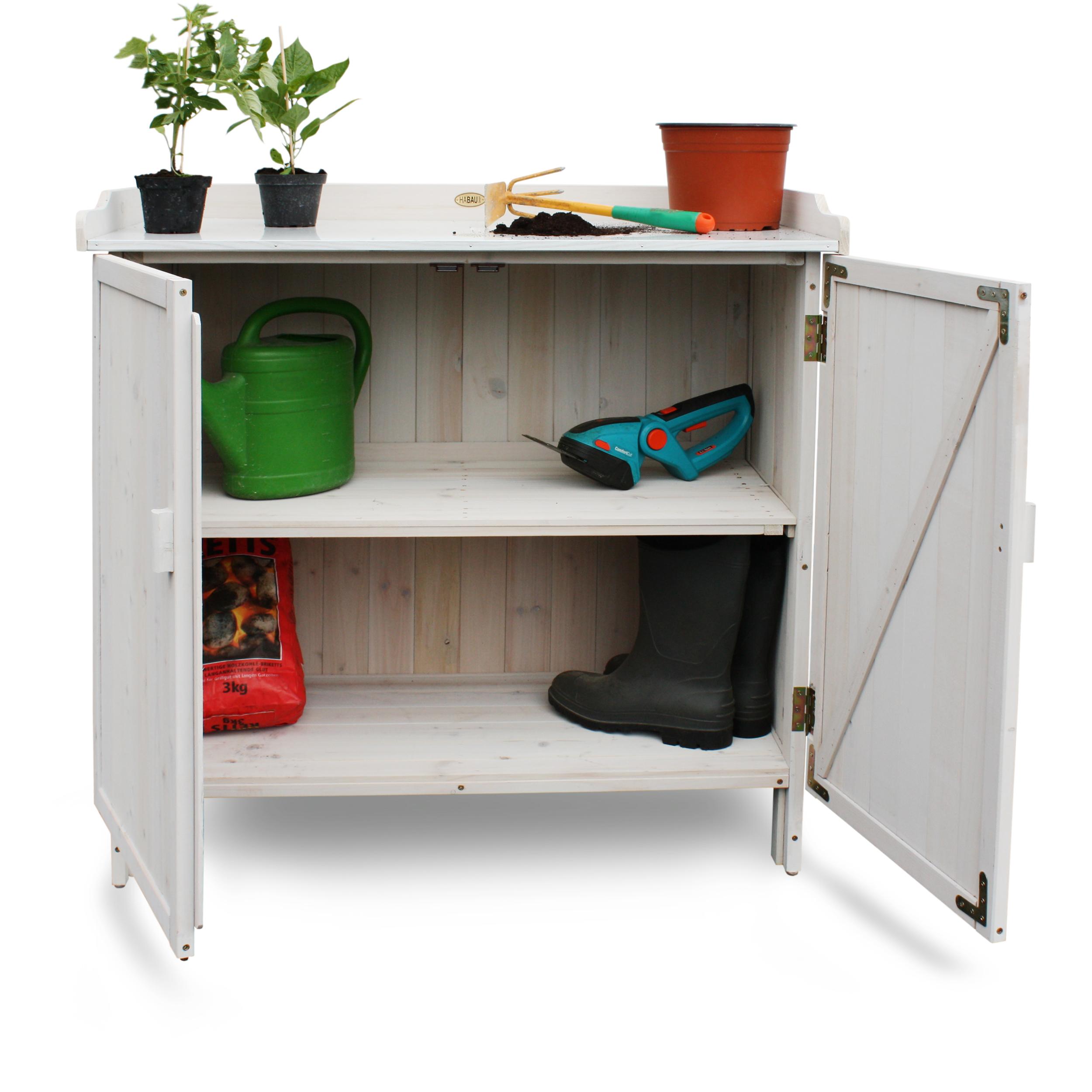 HABAU Gartentisch Lino mit Unterschrank - 3095