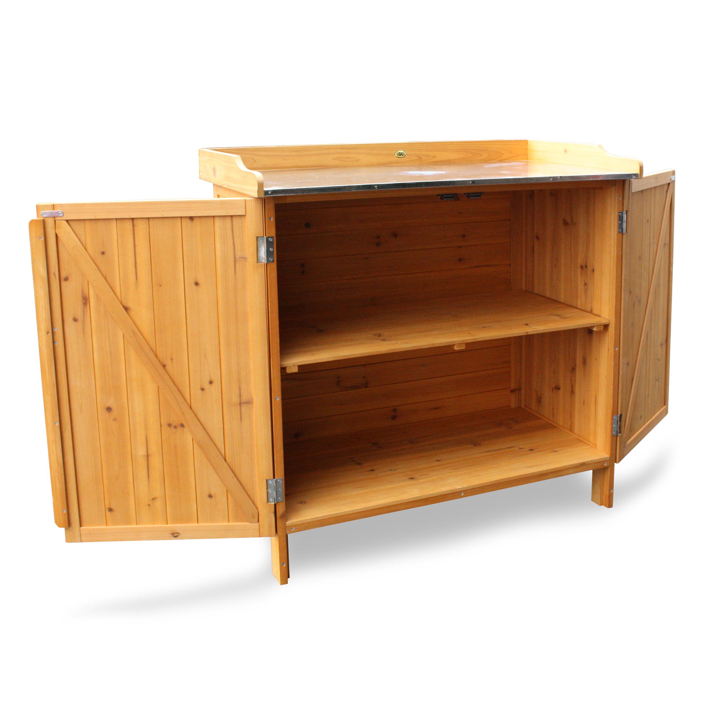 HABAU Gartentisch mit Unterschrank und Einlegeboden - 3106