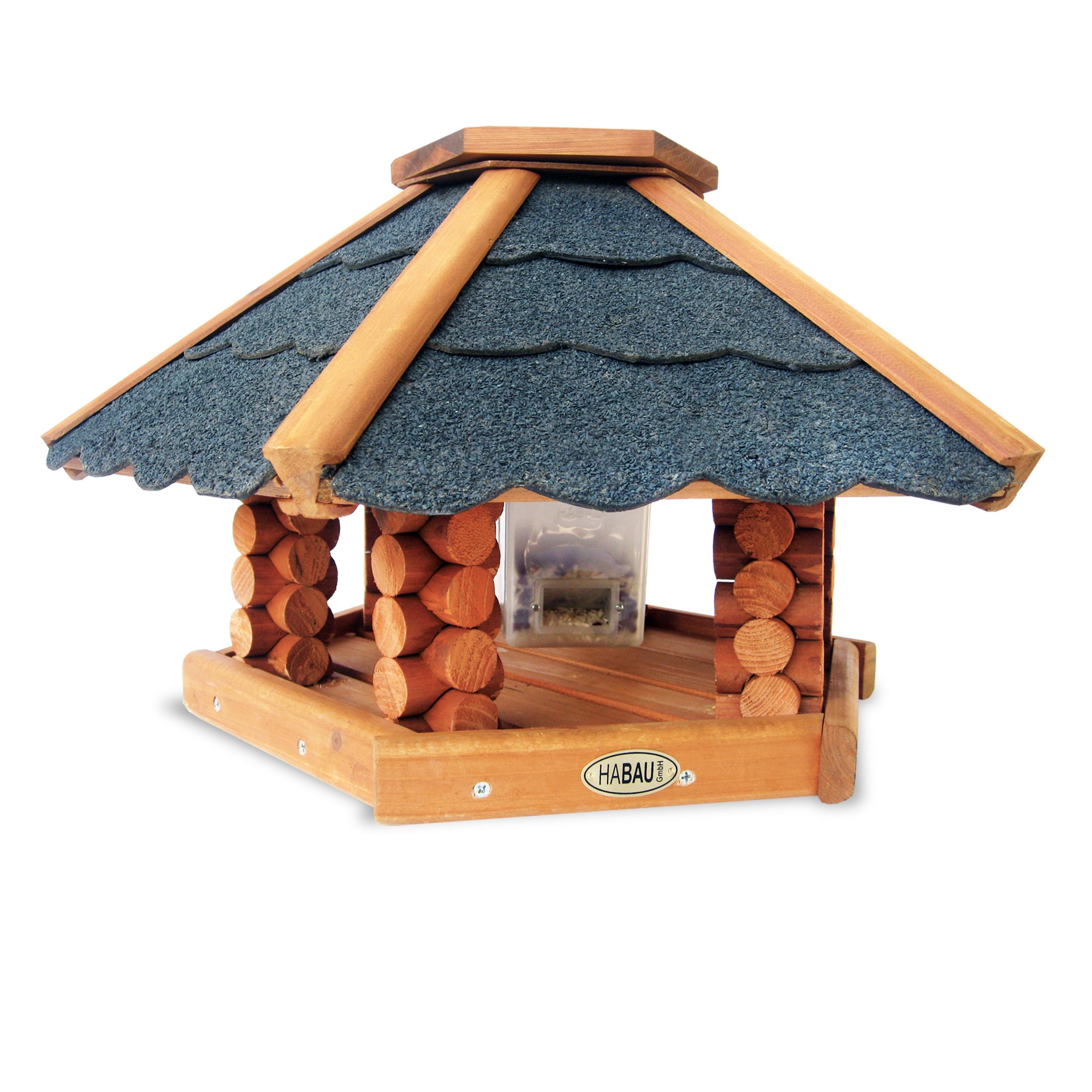 HABAU Vogelhaus Schweden mit Silo und Standfuß - 2510