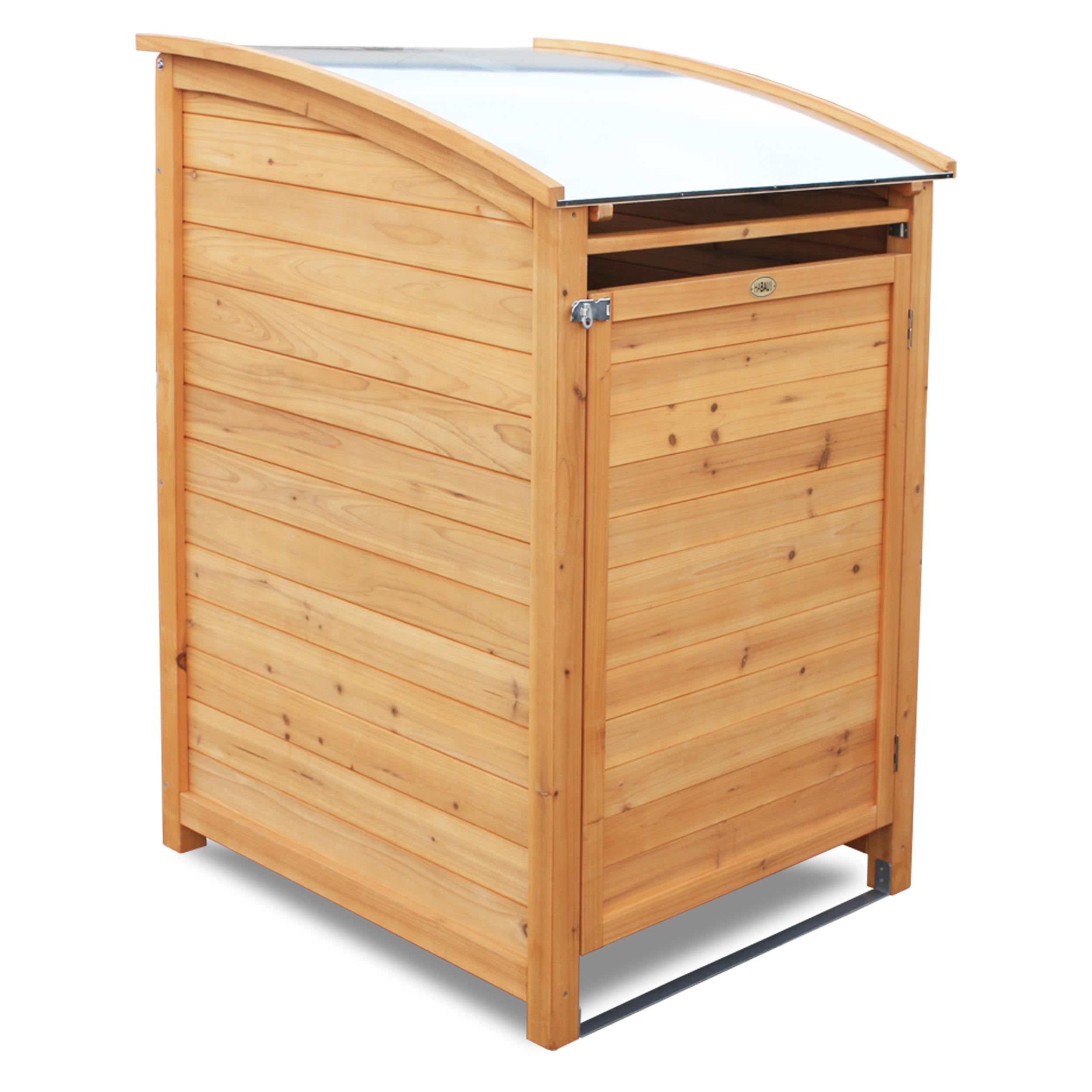 HABAU Mülltonnenbox PLUS 120 Liter, natur - 3152