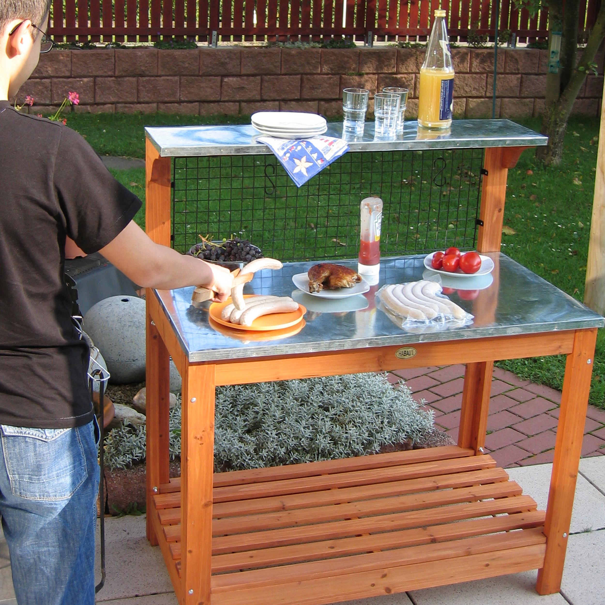 HABAU Gartentisch 695, Anwendungsbeispiel zum Grillen