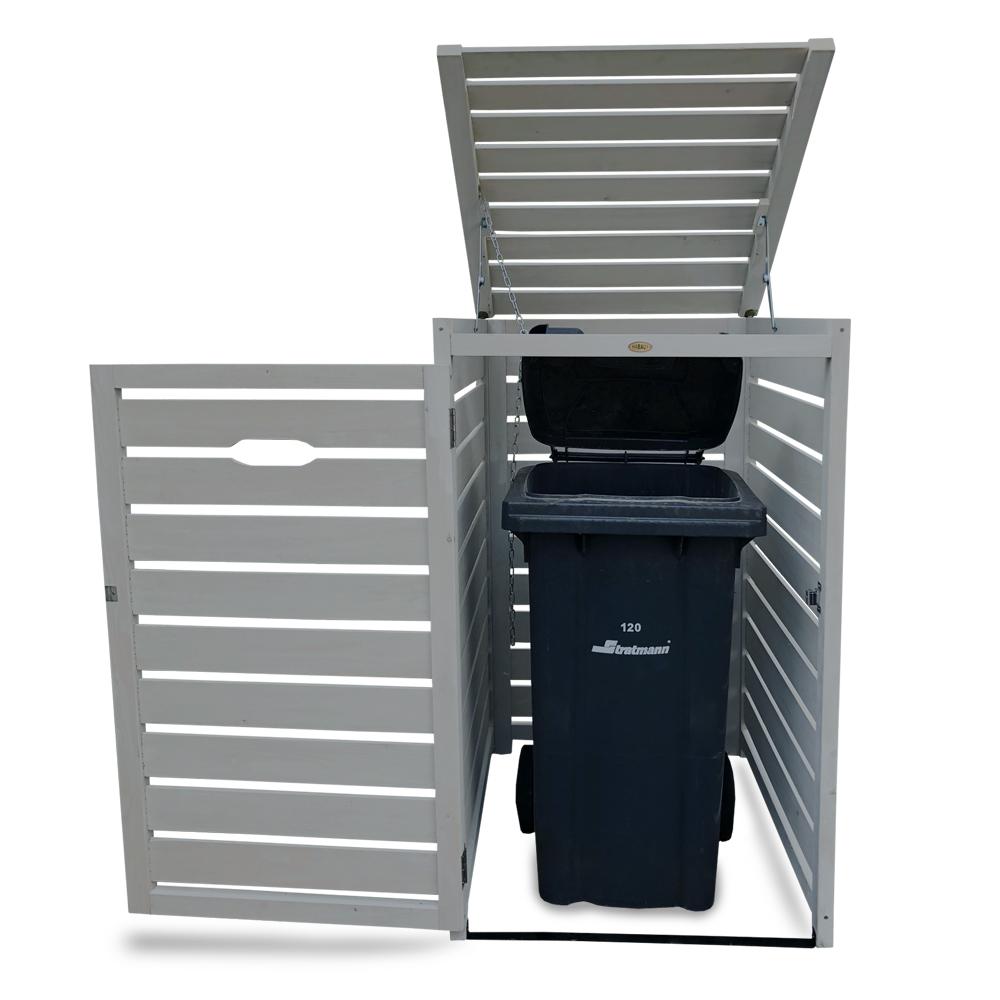 HABAU Mülltonnenbox für 120 + 240 Liter, hellgrau - 3162