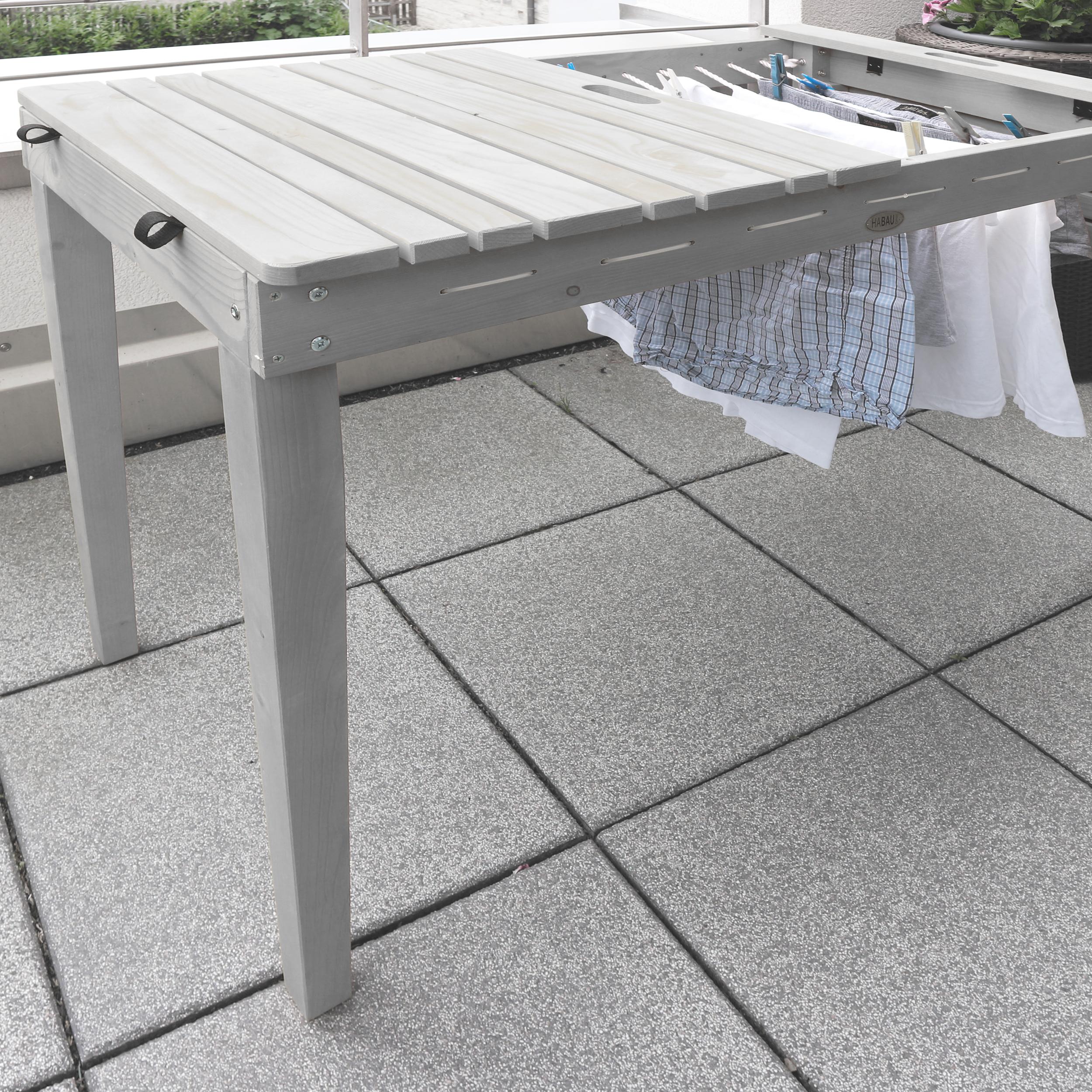 HABAU Balkontisch mit Wäscheleine - Anwendungsbeispiel - 2817