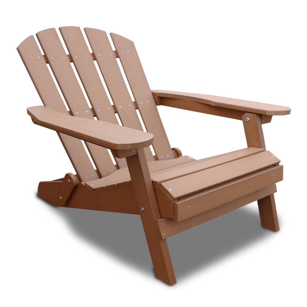 Liegestuhl mit Fußbank, klappbar, aus UV-beständigem Vollkunststoff